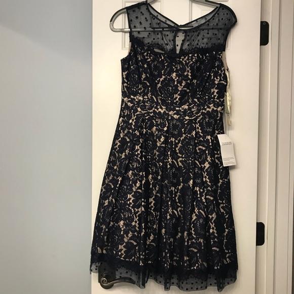 Nwt Sz 8 Eliza J Blue Lace Dress Lord And Taylor Nwt